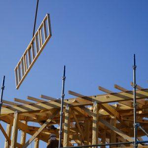 木造住宅の上棟、三重の注文住宅