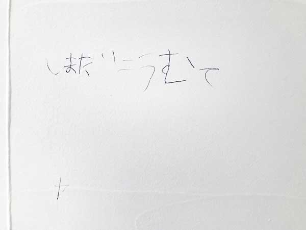 漆喰の壁に落書き その①