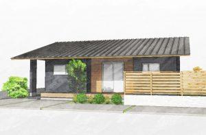 シンプルな平屋の家、バリアフリーで住みやすい。